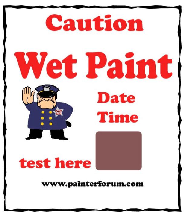Wet Paint Signs